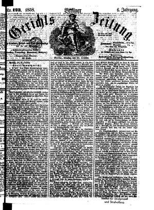 Berliner Gerichts-Zeitung vom 26.10.1858