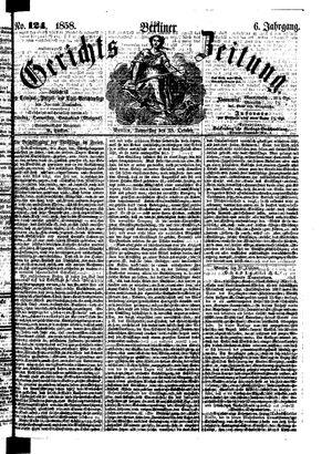 Berliner Gerichts-Zeitung on Oct 28, 1858