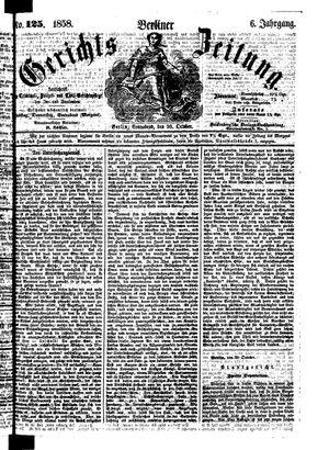 Berliner Gerichts-Zeitung vom 30.10.1858