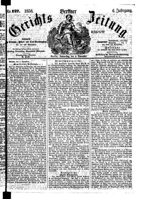 Berliner Gerichts-Zeitung on Nov 4, 1858