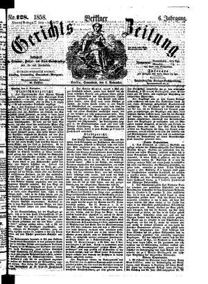 Berliner Gerichts-Zeitung vom 06.11.1858