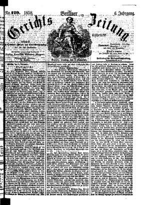 Berliner Gerichts-Zeitung vom 09.11.1858