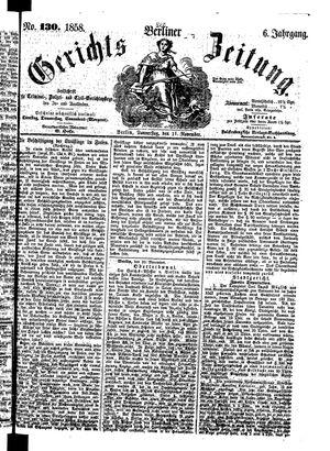 Berliner Gerichts-Zeitung vom 11.11.1858