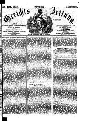 Berliner Gerichts-Zeitung vom 13.11.1858