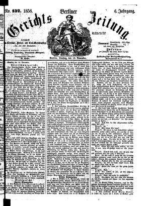 Berliner Gerichts-Zeitung vom 16.11.1858