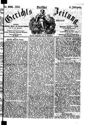 Berliner Gerichts-Zeitung on Nov 18, 1858