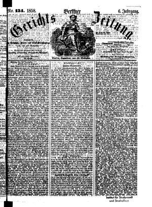 Berliner Gerichts-Zeitung vom 20.11.1858