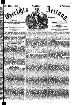 Berliner Gerichts-Zeitung vom 23.11.1858