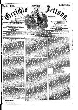 Berliner Gerichts-Zeitung vom 01.01.1859