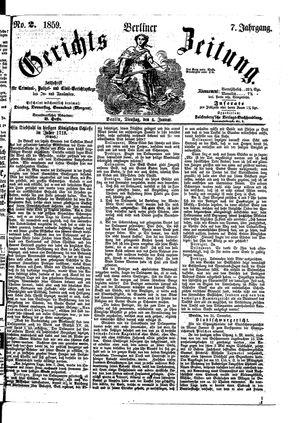 Berliner Gerichts-Zeitung vom 04.01.1859