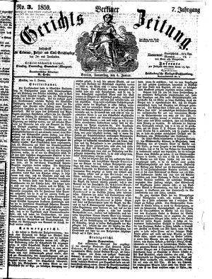 Berliner Gerichts-Zeitung vom 06.01.1859