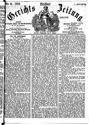 Berliner Gerichts-Zeitung on Jan 8, 1859