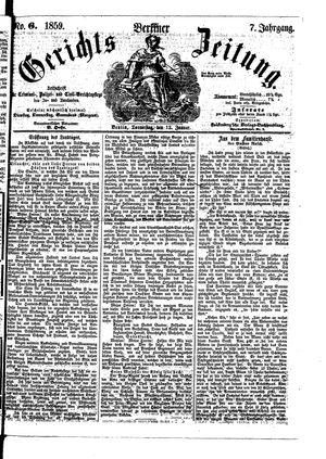 Berliner Gerichts-Zeitung vom 13.01.1859
