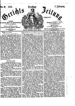 Berliner Gerichts-Zeitung vom 20.01.1859