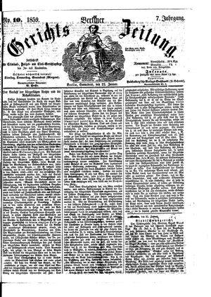 Berliner Gerichts-Zeitung vom 22.01.1859