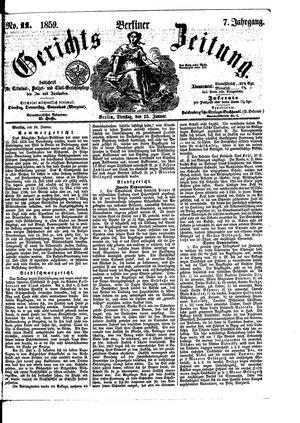 Berliner Gerichts-Zeitung vom 25.01.1859