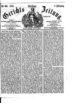 Berliner Gerichts-Zeitung vom 27.01.1859