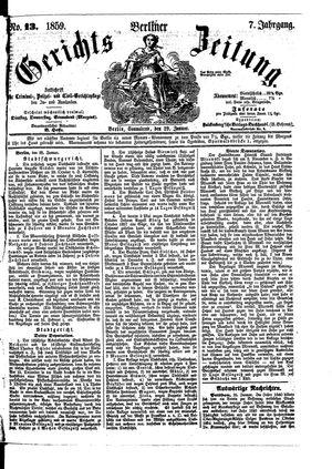 Berliner Gerichts-Zeitung vom 29.01.1859