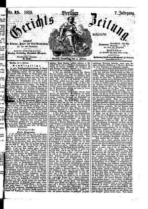 Berliner Gerichts-Zeitung on Feb 3, 1859