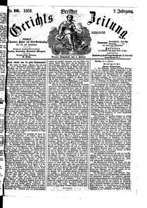Berliner Gerichts-Zeitung vom 05.02.1859