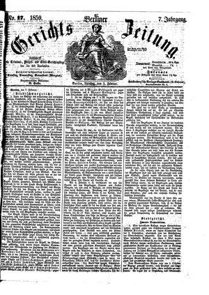 Berliner Gerichts-Zeitung vom 08.02.1859