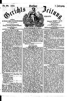 Berliner Gerichts-Zeitung vom 10.02.1859