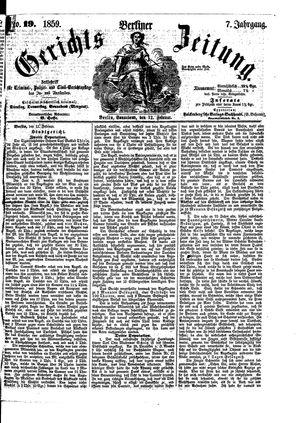 Berliner Gerichts-Zeitung vom 12.02.1859