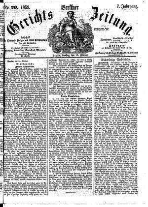 Berliner Gerichts-Zeitung vom 15.02.1859
