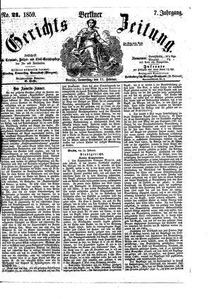 Berliner Gerichts-Zeitung vom 17.02.1859