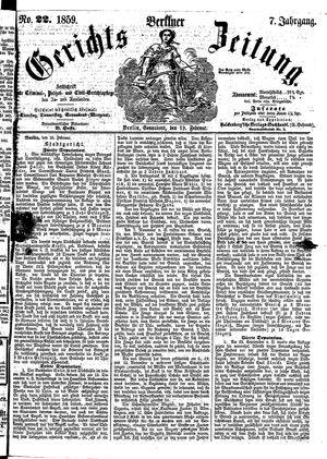 Berliner Gerichts-Zeitung vom 19.02.1859