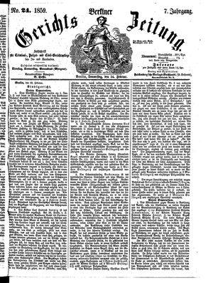 Berliner Gerichts-Zeitung vom 24.02.1859