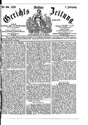 Berliner Gerichts-Zeitung vom 26.02.1859