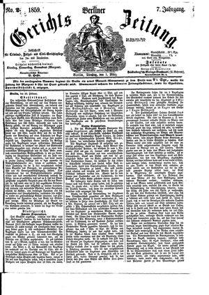 Berliner Gerichts-Zeitung vom 01.03.1859