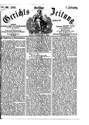 Berliner Gerichts-Zeitung vom 03.03.1859
