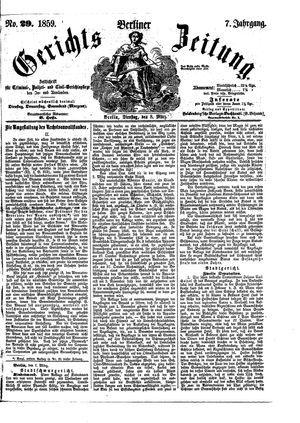 Berliner Gerichts-Zeitung on Mar 8, 1859