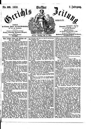 Berliner Gerichts-Zeitung on Mar 15, 1859