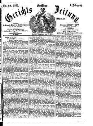 Berliner Gerichts-Zeitung on Mar 17, 1859
