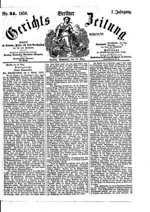Berliner Gerichts-Zeitung vom 19.03.1859