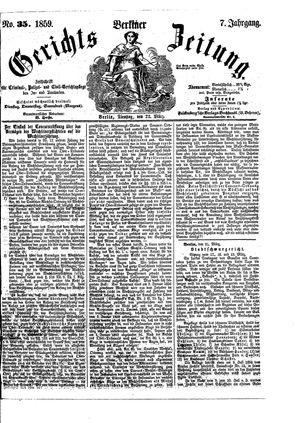 Berliner Gerichts-Zeitung vom 22.03.1859