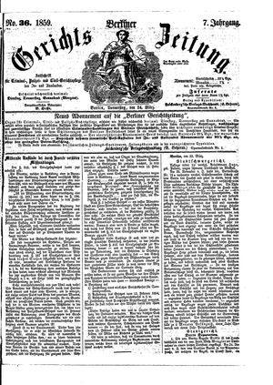 Berliner Gerichts-Zeitung vom 24.03.1859