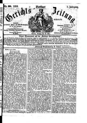 Berliner Gerichts-Zeitung on Mar 29, 1859