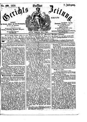 Berliner Gerichts-Zeitung vom 02.04.1859