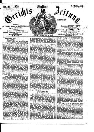 Berliner Gerichts-Zeitung vom 05.04.1859