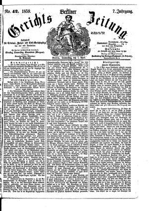 Berliner Gerichts-Zeitung vom 07.04.1859