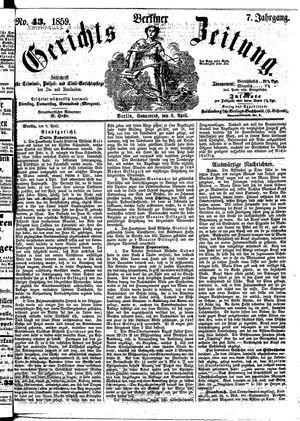 Berliner Gerichts-Zeitung vom 09.04.1859