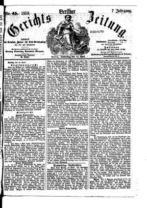Berliner Gerichts-Zeitung vom 14.04.1859