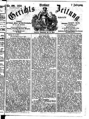 Berliner Gerichts-Zeitung vom 16.04.1859