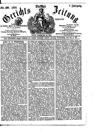 Berliner Gerichts-Zeitung vom 24.04.1859