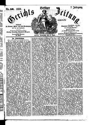 Berliner Gerichts-Zeitung on Apr 28, 1859