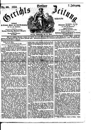 Berliner Gerichts-Zeitung vom 30.04.1859